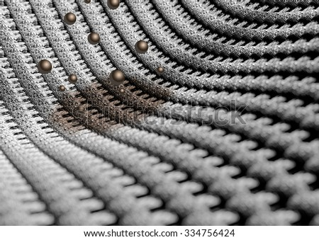 Microscopic close up of fabric or fibers showing the individual weaves of the cotton or wool fabric. Camera with strong depth of field. Background or texture. - stock photo