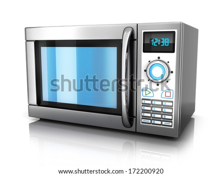 microwave on white background (done in 3d)
