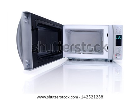 Microwave oven - stock photo