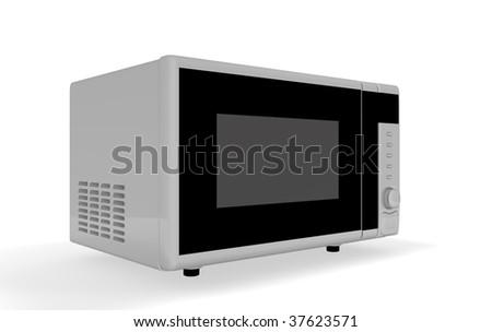 microwave oven - stock photo