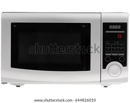 Microwave oven. Isolated on white.