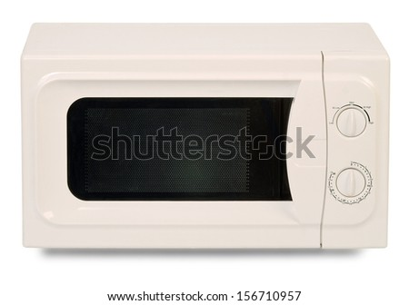 microwave oven isolated over white background