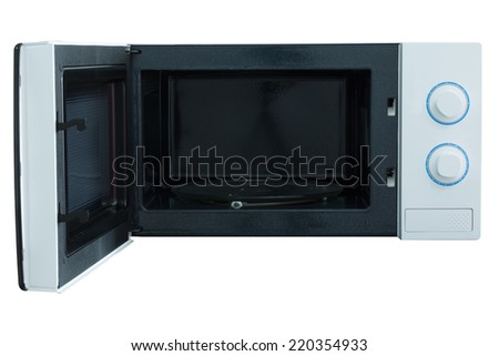 Microwave oven isolated white background photo