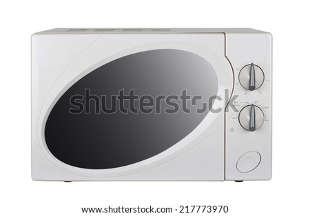microwave oven on a white background - stock photo