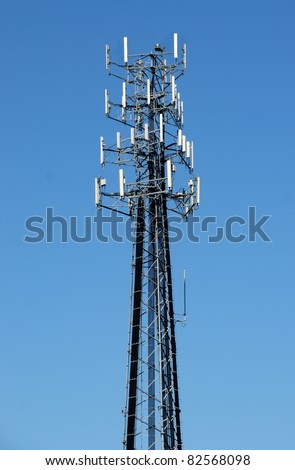 microwave telecommunications tower