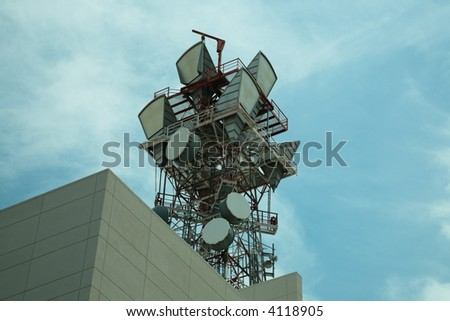 Microwave telecommunications tower in Arizona