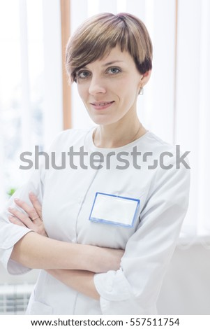 Mid age female doctor