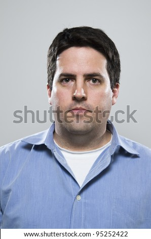 Mid thirties, blue collar worker - stock photo