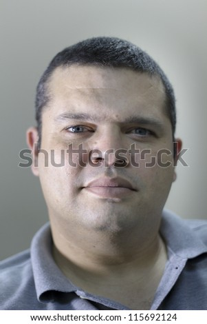 Middle age man portrait - stock photo