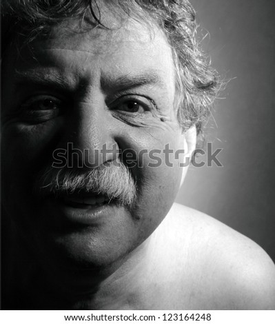 middle age man smile - stock photo