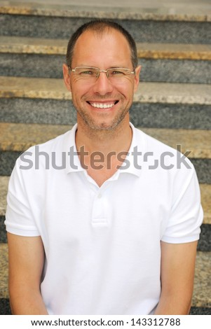 Middle age smiling man portrait