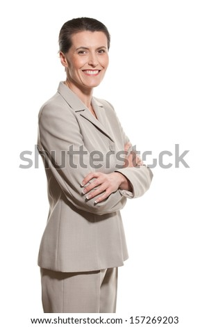 Middle-aged businesswoman