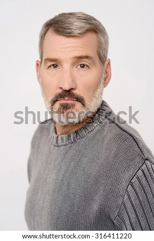 Middle aged caucasian male model posing