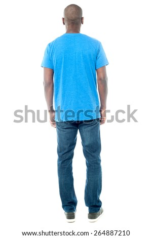 Middle aged man facing the wall - stock photo