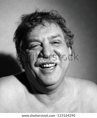middle-aged man laught