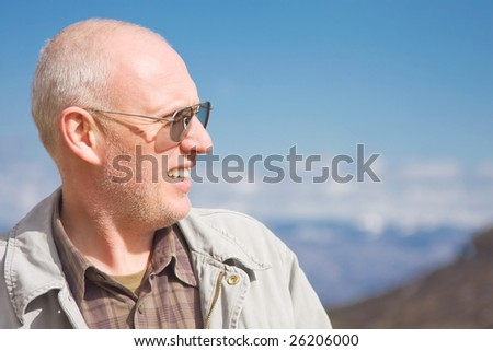 Middle aged man outdoor portrait