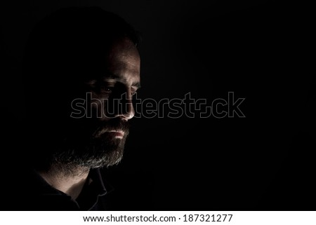 Middle aged man with a beard