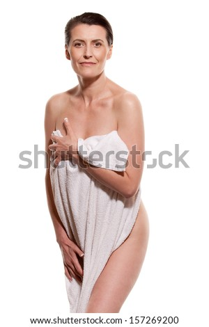 Middle-aged woman - stock photo