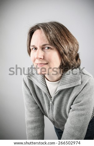 Middle aged woman - stock photo
