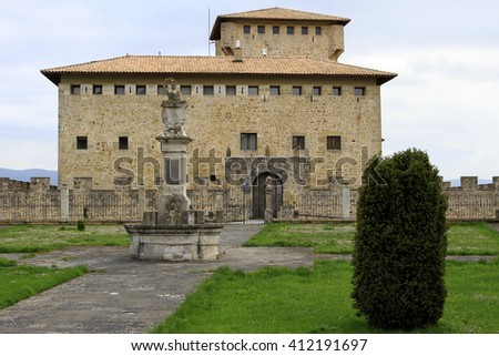 middle ages barona palace in Alava (Spain)