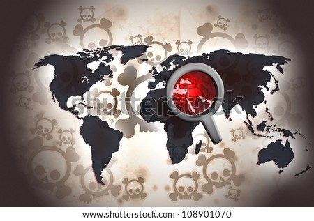 middle east conflict - stock photo