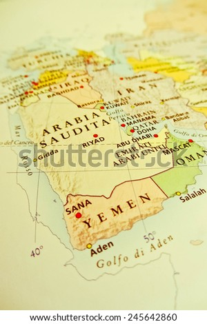 Middle East geographical view - stock photo