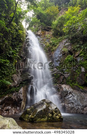 Middle Fall in Ng Tung Chai tail in Tai Mo Shan country park in Hong Kong