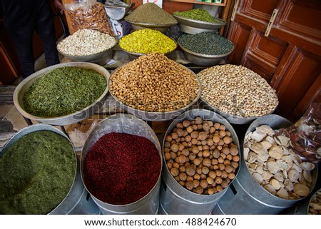 Middle of east iranian bazar close up sceene