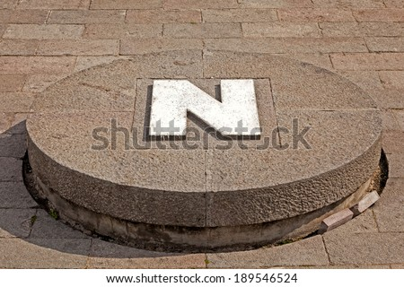 Middle of the world,  Mitad del Mundo, Equator, south america - stock photo