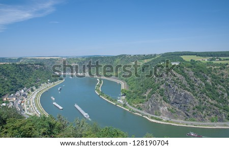middle Rhine Valley with the famous Loreley Rock,Germany