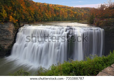 Middle Waterfalls of Letchworth State Park, NY