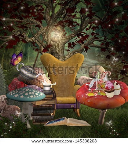 Midsummer night's dream series - A place for reading - stock photo