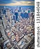 Midtown Manhattan in New York City from high perspective - stock photo