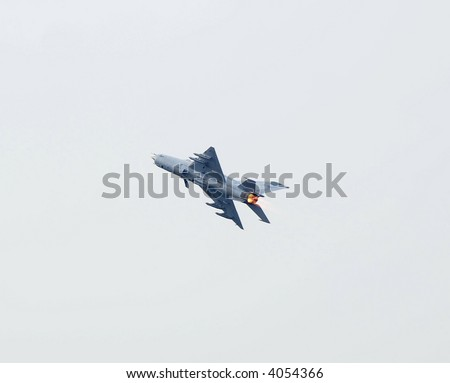 Mig 21 on the air - stock photo