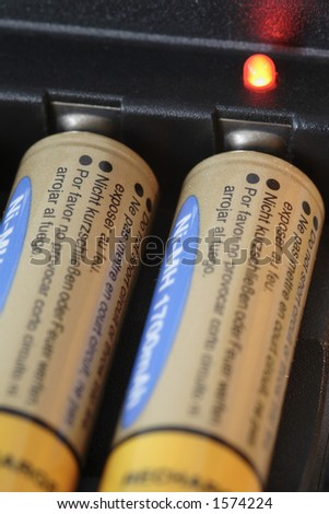 mignon aa battery / accu charger in detail