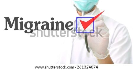 Migraine - stock photo