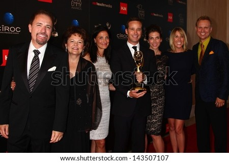 Mike Richards, The Price is Right staff in the 40th Annual Daytime Emmy Awards Press Room, Beverly Hilton, Beverly Hills, CA 06-16-13