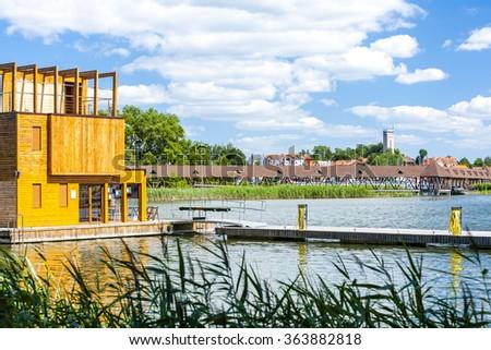 Mikolajki - center of Masurian lakes, Warmian-Masurian Voivodeship, Poland - stock photo