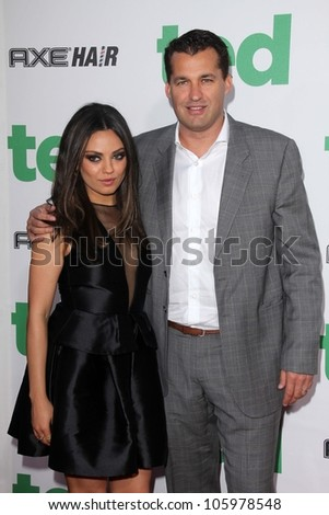 "Mila Kunis and Scott Stuber at the ""Ted"" World Premiere, Chinese Theater, Hollywood, CA 06-21-12"