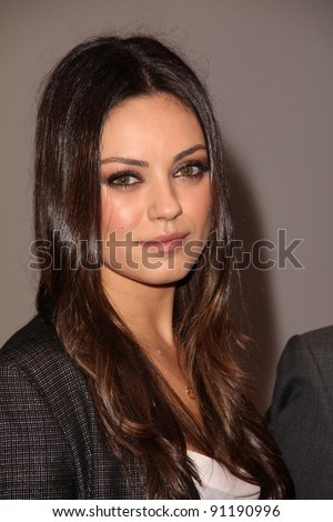 Mila Kunis at the Jaguar Land Rover Preview Reception For 2011 Los Angeles Auto Show, Two Rodeo, Beverly Hills, CA 11-15-11 - stock photo
