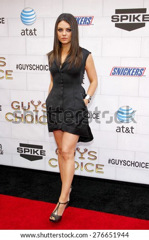 Mila Kunis at the 2012 Spike TV's Guys Choice Awards held at the Sony Studios in Culver City on June 2, 2012.