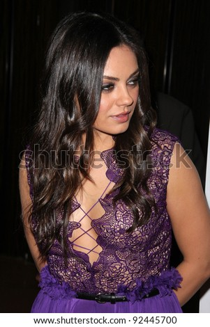 Mila Kunis at the St. Jude Children's Research Hospital 50th Anniversary Gala, Beverly Hilton, Beverly Hills, CA 01-07-12