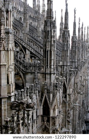 Milan Cathedral Roof - geometric beauty hidden from tourists below