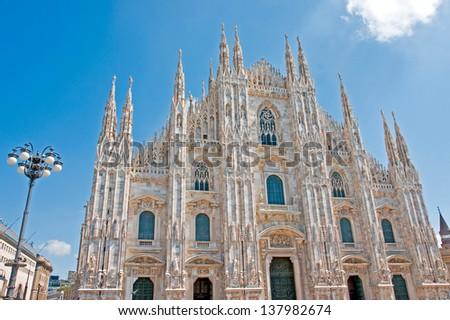 Milan duomo - stock photo