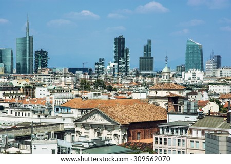 Milan is the second-most populous city in Italy, serves as the capital of Lombardy. - stock photo