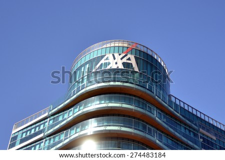 MILAN, ITALY - APRIL 30: building axa on April 30, 2015 in Milan, Italy  - stock photo