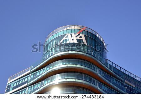 MILAN, ITALY - APRIL 30: building axa on April 30, 2015 in Milan, Italy  - stock photo