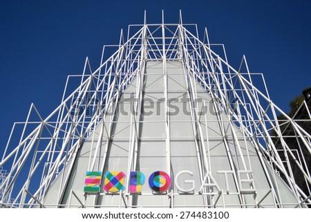 MILAN, ITALY - APRIL 30: EXPO GATE, on April 30, 2015 in Milan, Italy  - stock photo