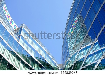 MILAN, ITALY - APRIL 26, 2014: The new headquarter of Regione Lombardia government in Milan. - stock photo