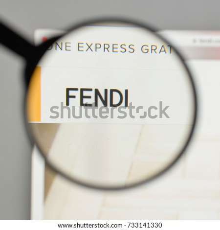 Milan, Italy - August 10, 2017: Fendi logo on the website homepage.